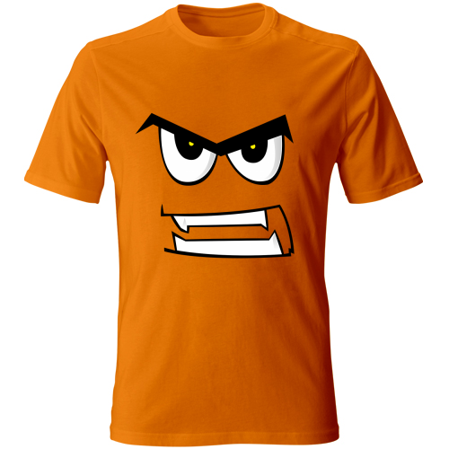 Maglia-bambino-angryface-arancione