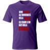 maglietta università della vita viola